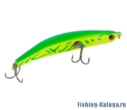 Воблер ZIGZAG minnow 86F   AIKO GREEN-цвет  86mm  6.5g  заглубление 0.2-0.5m  плавающий