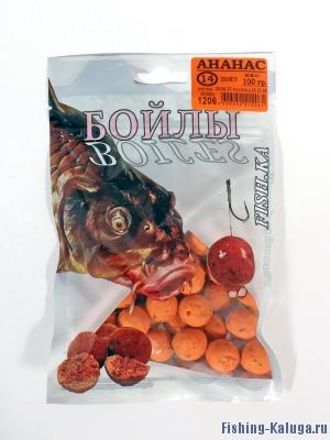 """Бойлы """"FISH.KA"""" Ананас, 14мм, 100г"""