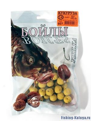 """Бойлы """"FISH.KA"""" Кукуруза, 14мм, 100г"""