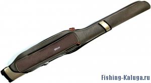 Чехол для удилищ с катушкой жесткий, 2 секционный 140 см с карманами тип2