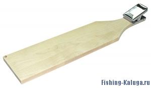 Доска разделочная для рыбы (сосна) с нержавеющей прищепкой