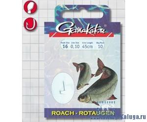 Крючок GAMAKATSU BKS-1050N Roach 45см №14 d поводка 012 (10шт.)