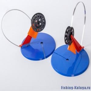 Комплект  жерлиц с пластиковой стойкой 5 штук  (D195-мм, катушка d-63)