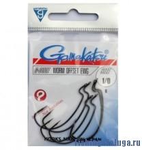 Крючок GAMAKATSU Worm Offset Ewg NS №1 (6шт.)