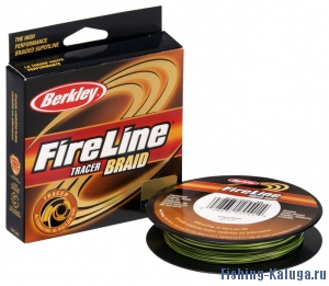 "Леска плетеная BERKLEY ""FireLine Tracer"" 0.20mm (110m)(19.5kg)(желтая/черная)"