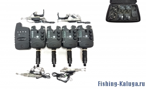 Набор электронных сигнализаторов поклевки с пейджером, 4-мя свингерами и 4-мя быстросъемами Hoxwell HL 134 (4+1+4+4)