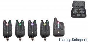 Набор электронных сигнализаторов поклевки с пейджером Hoxwell HL 114 (4+1)