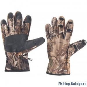 Перчатки рыбацкие КМФ на липучке, р.L, Helios
