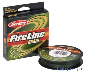 "Леска плетеная BERKLEY ""FireLine Braid"" 0.40mm (110m)(58.1kg)(зеленая)"