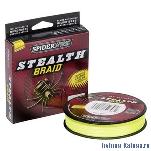 "Леска плетеная SPIDERWIRE ""Stealth Yellow"" 0.12mm (7.1kg)(137m)(желтая)"