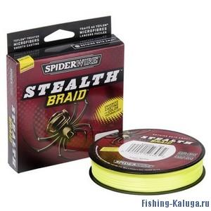 "Леска плетеная SPIDERWIRE ""Stealth Yellow"" 0.17mm (16.5kg)(137m)(желтая)"