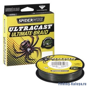 "Леска плетеная SPIDERWIRE ""Ultracast Ultimate Green"" 0,14mm (110m)(12,7kg)(8 Carrier)(зеленая)"
