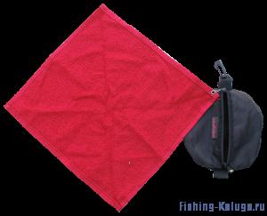 Полотенце с чехлом  (черный)