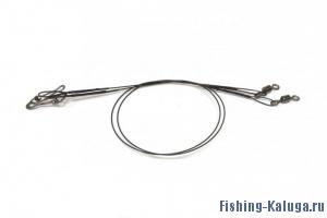 Поводок оснащенный сталь черный Mifine (25 см, 9 кг)
