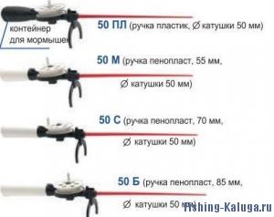 """Удочка зимняя """"Пирс"""" КМ-50 Б (длин. ручка)"""