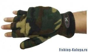Варежки-перчатки флисовые на липучке