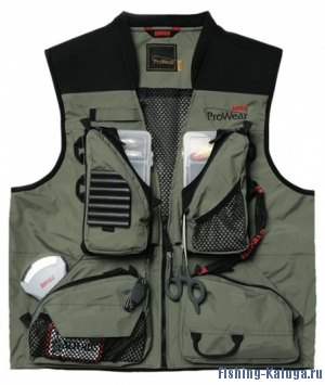 ЖИЛЕТ RAPALA PRO WEAR SHALLOWS VEST, цв. зелён., р-р XXL
