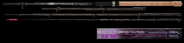 удилище фидерное mikado ultraviolet twin feeder 360 420